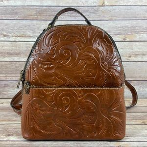 Patricia Nash Montioni Tooled Leather Backpack Bag